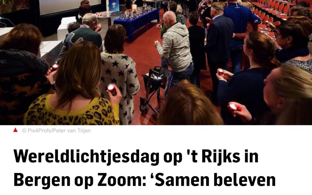Wereldlichtjesdag op 't Rijks in Bergen op Zoom: 'Samen beleven voelt lichter'